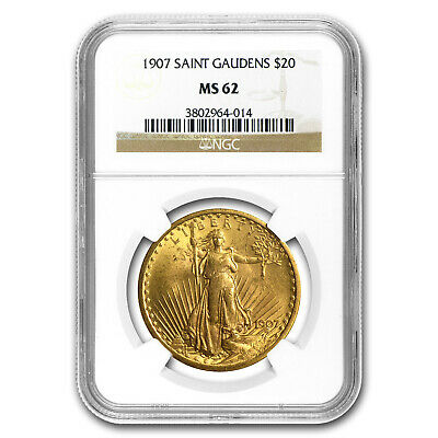 1907 $20 Saint-Gaudens Gold Double Eagle MS-62 NGC - SKU #34089