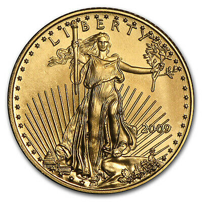 2009 1/10 oz Gold American Eagle BU - SKU #48686