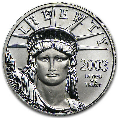 2003 1/10 oz Platinum American Eagle BU - SKU #7459