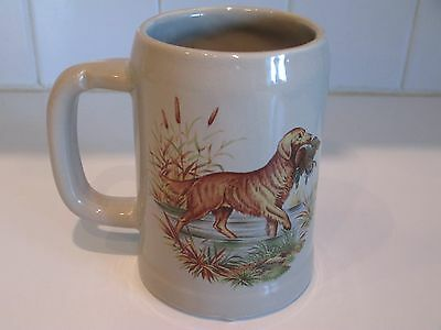 McCoy GOLDEN RETRIEVER Dog STEIN MUG # 6395 Hunting Scene USA