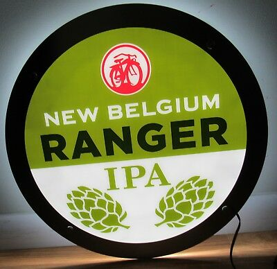 New Belgium Ranger IPA Beer LED Light Up Bicycle Sign NEW IN BOX Bar Pub Bicycle