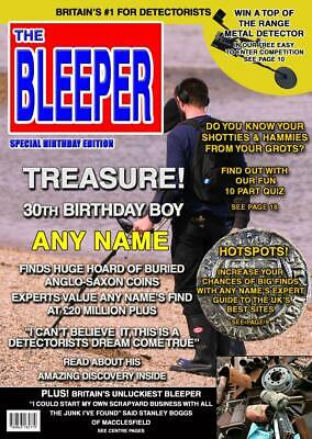 Personalised Metal Detector Birthday Card Spoof