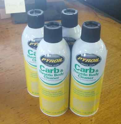 (4 PACK) PYROIL C-16 Carb / Choke & Throttle Body Cleaner, Low VOC 13 oz NEW 48D