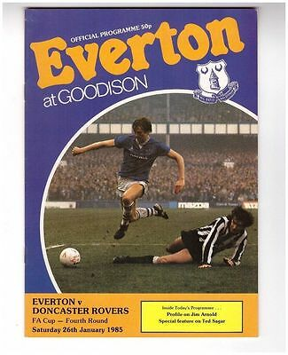 Everton v Doncaster Rovers 84/85 F.A.Cup