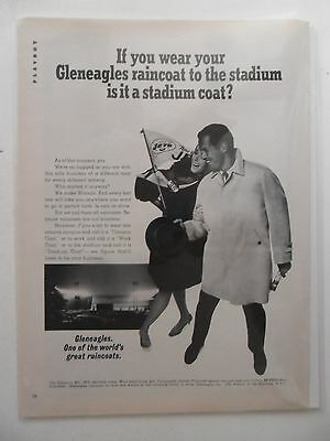 1967 Print Ad Gleneagles Raincoat Overcoat Fashion ~ New York Jets Football Fans