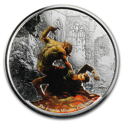 2017 Republic of Ghana 1 oz Silver Proof Werewolf vs. The Count - SKU#153756
