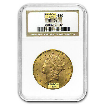 $20 Liberty Gold Double Eagle MS-62 NGC (1800s S-Mint) - SKU #97218