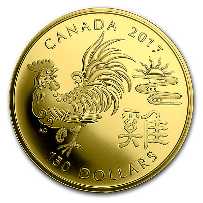 2017 Canada Gold $150 Year of the Rooster Proof