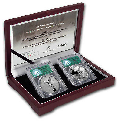 2017 Mexico 2-Coin Silver Libertad Set Proof/Reverse PR-70 PCGS