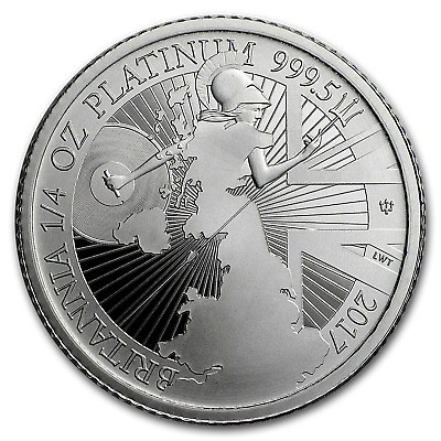2017 Great Britain 1/4 oz Proof Platinum Britannia - SKU#153106