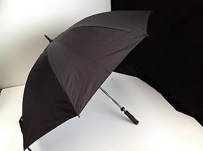 2 LAYER GOLF UMBRELLA BLACK - CANOPY RAIN - Diameter: 130cm - Height: 93cm
