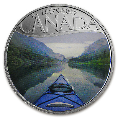 2017 Canada 1/2 oz Silver $10 150th Anniv: Kayaking on the River - SKU #102879