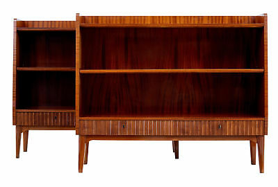 PAIR OF 20TH CENTURY 1970's SCANDINAVIAN TEAK LOW BOOKCASES