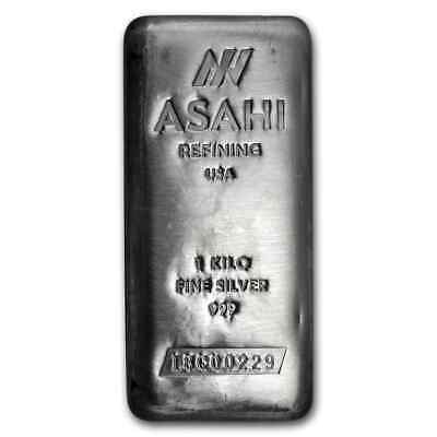 1 kilo Silver Bar - Asahi (Serialized) - SKU #90499