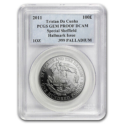 2011 St George/Dragon Tristan Da Cunha Palladium £100 Proof PCGS - SKU #101956