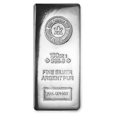 100 oz Silver Bar - RCM (.9999 Fine, Pressed Finish) - SKU #97758