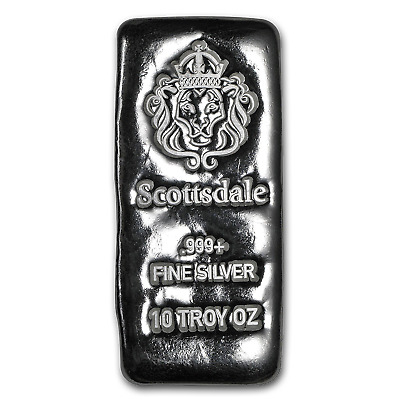 10 oz Silver Long Cast Bar - SKU #151549