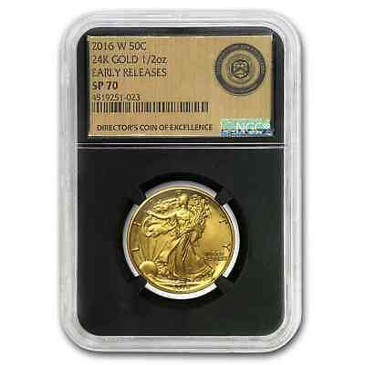 2016-W Gold Walking Liberty Half SP-70 NGC/PCGS (Mixed Labels) - SKU# 152834