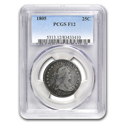 1805 Draped Bust Quarter Fine-12 PCGS - SKU #150170