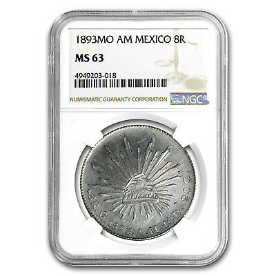 1893 Mo-AM Mexico Silver 8 Reales MS-63 NGC