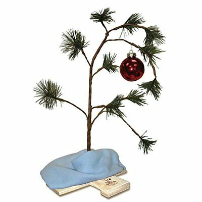 ProductWorks 24in Peanuts Charlie Brown Christmas Tree With Linus Blanket., New