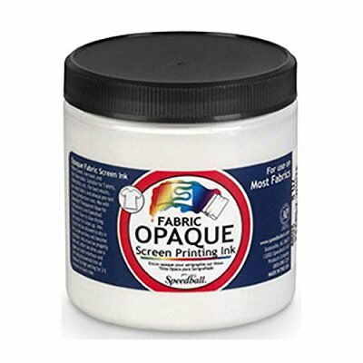 Speedball 4803 Opaque Fabric Screen Printing Inks 8 oz Pearl White, New
