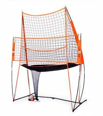 Bownet 11ft x 8ft Portable Volleyball Hitting Practice Station with Practice Net