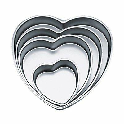 Wilton Decorative Preferred 4pc Heart Pan Set Novelty Cake Pans, New