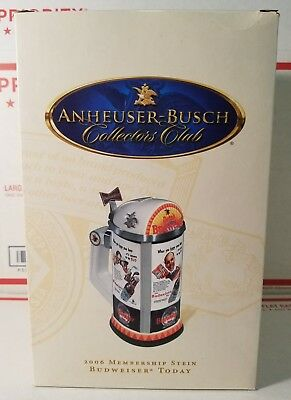 "2006 Anheuser-Busch Collectors Club Membership Stein "" BUDWEISER TODAY "" CB36"