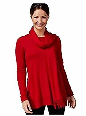 Alfani Womens Knit Fringe Pullover Sweater Red S Womens Pullover Sweaters, New