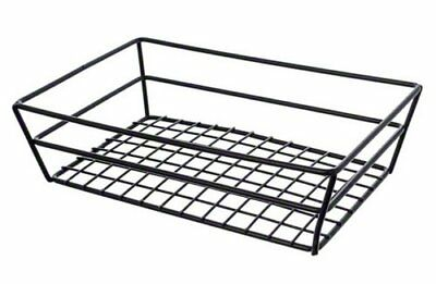 American Metalcraft Rectangular Wire Grid Basket Black, New