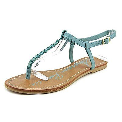 American Rag Women's Kelli Braided Thong Sandals Summer Blue Size 7.0 US, New