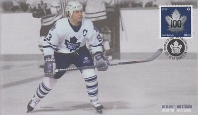 Canada 2017 Toronto Maple Leafs 100Th Anniversary - Doug Gilmour First Day Cover