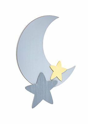 Little Love by NoJo Separates Star and Moon Shaped Wall Art Grey, New