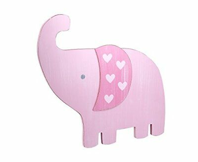 Little Love by NoJo Separates 6pc Elephant Shaped Wall Art Pink, New