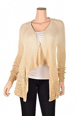 INC Womens Knit Ombre Cardigan Sweater Beige's Womens Cardigan Sweaters, New