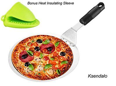 SS Cake/Pizza Peel /Lifter/Spatula by Round Dia. 10in For Safely & Easily Transf