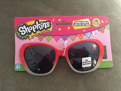 NEW- Red Shopkins Sunglasses- 100% UVF Protection