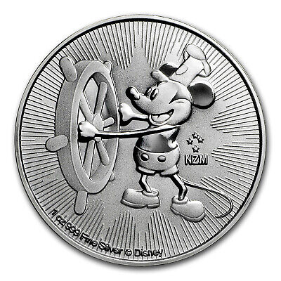 2017 Niue 1 oz Silver $2 Disney Steamboat Willie BU - SKU #117779