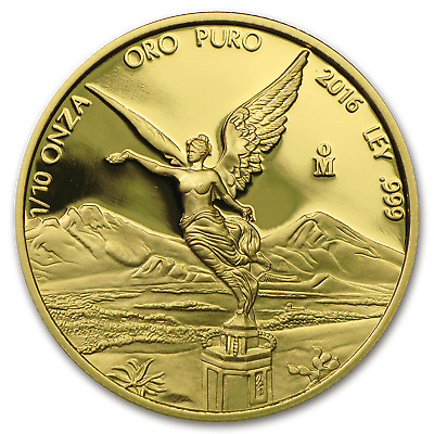 2016 Mexico 1/10 oz Proof Gold Libertad - SKU #103083