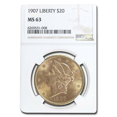 1907 $20 Liberty Gold Double Eagle MS-63 NGC - SKU #12510