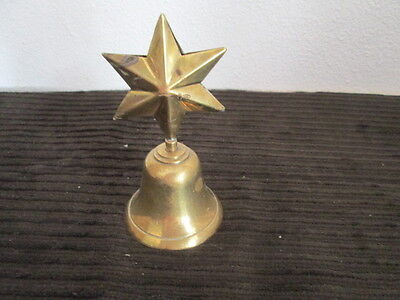 Vintage Brass Bell with Star on Top