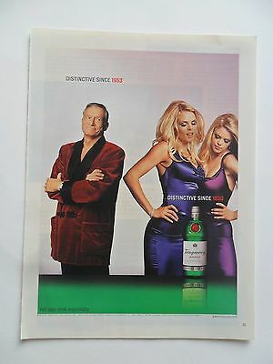 2003 Print Ad Tanqueray Gin Distilled English ~ Hugh Hefner