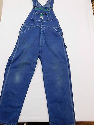 Men's Liberty Overalls Denim Patented Made In U.s.a. 38 X 29 With Some Flaws-