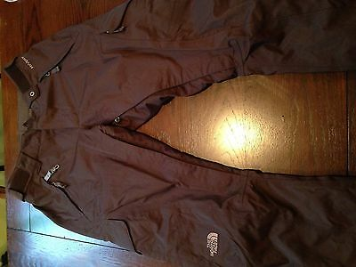 NWOT Women's Size XS THE NORTH FACE Brown HyVent Snow Ski Bell Bottom Pants