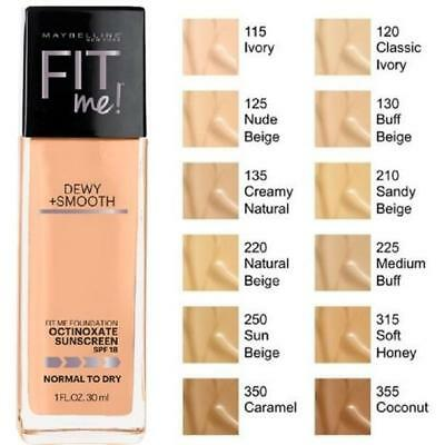 Maybelline Fit Me Dewy + Smooth Foundation 30mL - Choose Your Shade