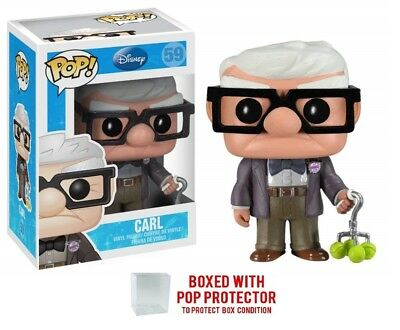 Funko POP Disney Up!: Carl Collectible Vinyl Figure #59 with protector Case