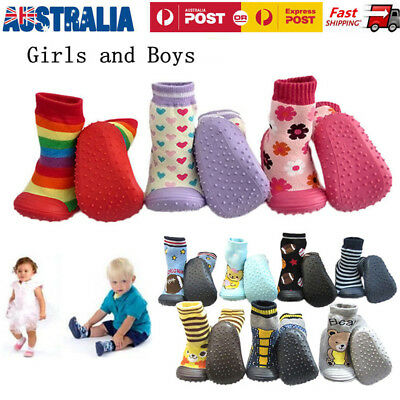 Baby Infant Toddler Rubber Soled Socks Soft Sole Shoes Pre First Walker Non Slip