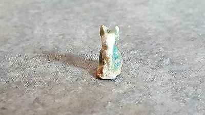 Small Ancient Egyptian Faience Amulet of BASTET #2, Late to Ptolemiac Period