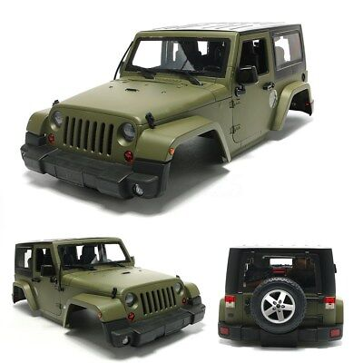 1:10 RC Scale Truck Climbing Car Hard Body Shell For Wrangler Jeep Matte 3 Color